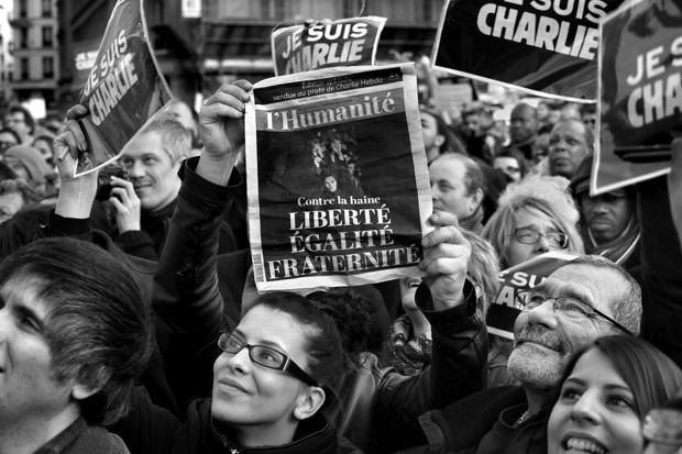 Solidaritätkundgebung in Paris, 2015