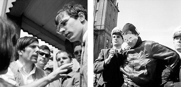 Dutschke auf Demo gegen Polizeigewalt, Demonstrant wird festgenommen, 1967
