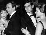 Anthony Perkins am Set von \'Lieben Sie Brahms?\', 1960