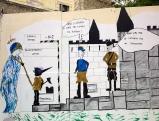 Graffiti gegen Merkel und Sarkozy