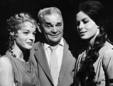 Barbara Ruetting mit Romy Schneider und Fritz Kortner, 1960