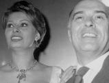 Carlo Ponti und Sophia Loren, undatierte Aufnahme