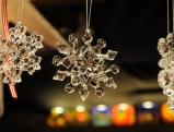 Sterne als Weihnachtsdekoration beim Christkindlmarkt am Marienplatz