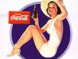 Coca-Cola-Anzeige in den 50er Jahren