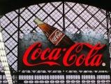 Coca-Cola-Reklame am Dresdner Hauptbahnhof, 1998