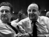 Gerhardt Baum und Hans-Dietrich Genscher, 1991