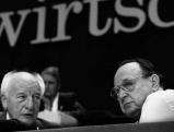 Walter Scheel und Hans-Dietrich Genscher, 1991