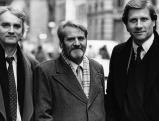 Gerd Ruge mit Michael Gramberg und Ulrich Wickert in Paris, 1985