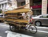 Transport auf dem Fahrrad