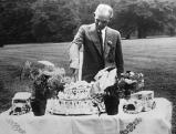 Henry Ford an seinem 66. Geburtstag 1929