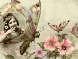 Frau im Schmetterling, um 1915
