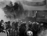 Auseinandersetzungen zwischen Polizei und Demonstranten