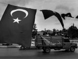 Tuerkische Fahne in Istanbul