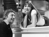 Serge Gainsbourg und Jane Birkin beim \'Liedercirkus\' in Muenchen, 1977