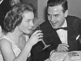 Joachim Fuchsberger mit Romy Schneider, 50er Jahre