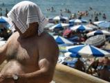 Mann mit Tuch
