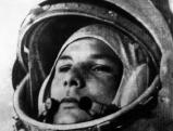 Juri Gagarin kurz vor dem Besteigen seines Raumschiffs Wostok am 12.4.1961