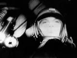 Juri Gagarin in einer Weltraumkapsel, 1961