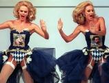 Ellen und Alice Kessler tanzen zur Eroeffnung der Muenchener Mode Woche, 1992