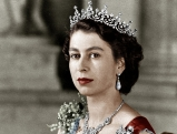 Koenigin Elisabeth II. im Februar 1952