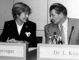 Friede Springer und Leo Kirch, 1996