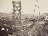Bauarbeiten an der Gloucester Road Station, 1867
