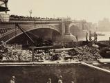 Bauarbeiten an der Blackfriars Bridge, 1869