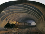 Dampflokomotive im Tunnel an der Praed Street, 1968