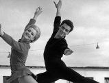 Marika Kilius mit Hans-Juergen Baeumler, 1959