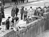 Bau der Berliner Mauer am Potsdamer Platz, 1961