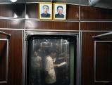 Bilder der Herrscher in der U-Bahn