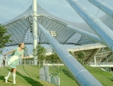 Model im Olympiastadion