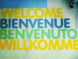 \'Welcome, Bienvenue, Benvenuto, Willkommen\' im Olympiapark