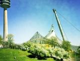 Olympiapark, mit Olympiaturm und Zeltdach des Olympiastadions