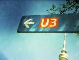 Wegweiser zur U-Bahnlinie 3