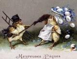 Postkarte \'Frohe Ostern\', um 1900