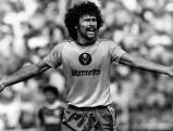 Paul Breitner auf dem Spielfeld, 1980er