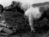 Prinzessin Diana mit einem Pony, 1971