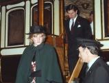 Prinzessin Diana und Prinz Charles im Railway Museum in New York, 1980