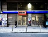 Geschlossene Bankfiliale der Eurobank, 2012