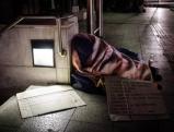 Obdachloser in Athen, 2012