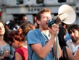 Studenten demonstrieren auf dem Puerta del Sol, 2012