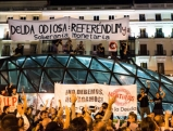Demonstranten am Puerta del Sol, 2012
