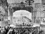 Festauffuehrung in der Oper Bayreuth zur Grundsteinlegung des Wagner-Theaters, 1872