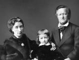 Richard Wagner mit Cosima und Sohn Siegfried, 1873