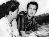 Rock Hudson mit Phyllis Gates in Florenz, 1956