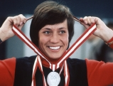 Rosi Mittermaier bei der Olympiade, 1976