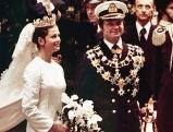 Koenig Carl Gustav mit Silvia Sommerlath, 1976