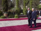 Joachim Gauck und Shimon Peres in Israel, 2012
