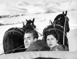 Soraya mit Schah Reza II in Sun Valley, 1955
